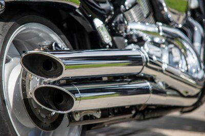 Fototapeta zamknąć się z układu wydechowego motocykla