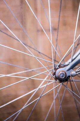 Fototapeta Zamknąć widok szprychy koła roweru