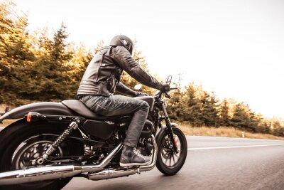 Fototapeta Zamknąć wysokiej mocy motocykla