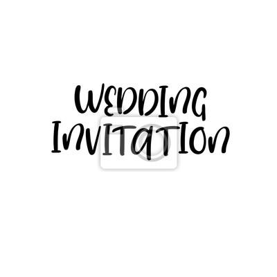 Zaproszenie Na ślub Z Odręcznym Tekstem Napis Kaligraficzny