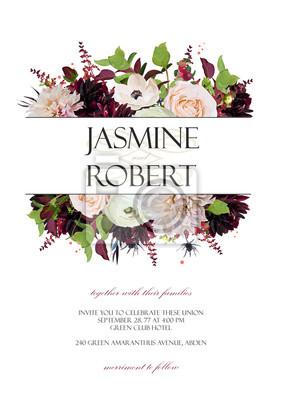 Zaproszenie Na ślub Zaproszenie Na Zaproszenie Projekt Róża