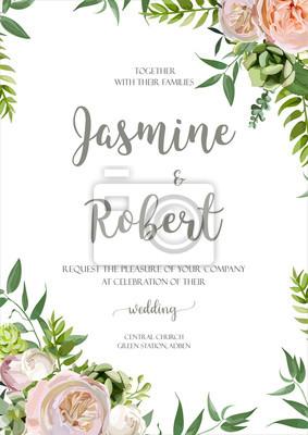 Zaproszenie Na Wesele Kwiat Zaproszenie Projekt Karty Z Różowym