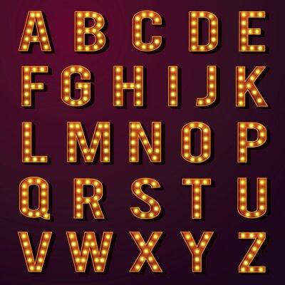 Fototapeta Żarówka alfabetów Set