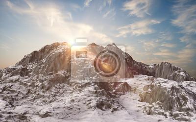 Fototapeta Zaśnieżone góry. zimowy krajobraz