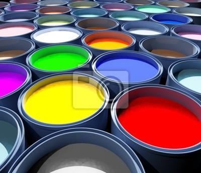 Zbiornik kolor farby, abstrakcyjny