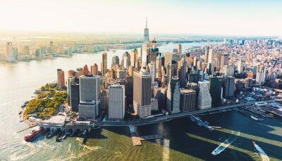 Fototapeta Zdjęcie lotnicze niższego Manhattanu NYC