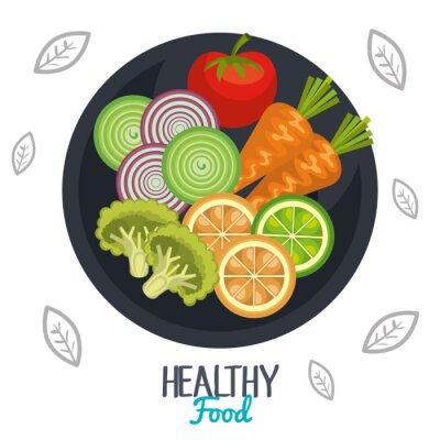 Fototapeta zdrowa żywność projekt