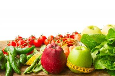 Fototapeta Zdrowe jedzenie na stole