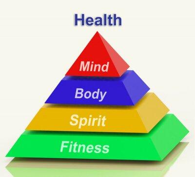Fototapeta Zdrowie Pyramid Środki Mind Body Spirit Holistic Samopoczucie