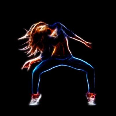 Fototapeta Żeński tancerka hip-hop