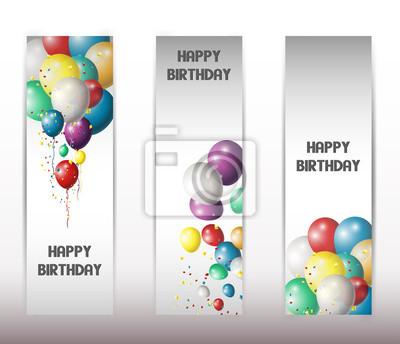 Fototapeta zestaw banerów wakacje z balonów