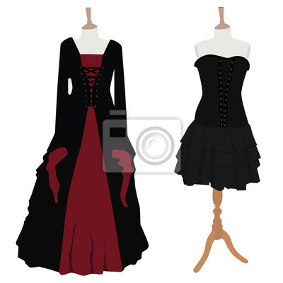 d5baaff8 Fototapeta: Zestaw gotycka sukienka