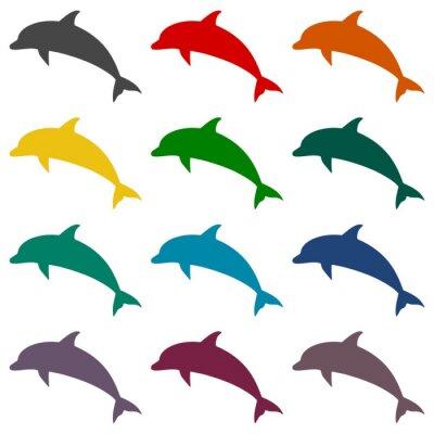 Fototapeta zestaw ikon Dolphin