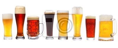 Fototapeta zestaw z innym piwem