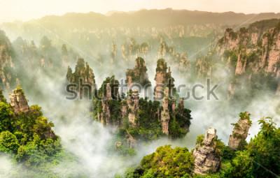 Fototapeta Zhangjiajie falezy góra przy Wulingyuan Hunan Chiny