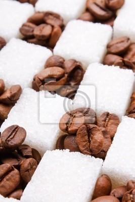 Fototapeta ziaren kawy i cukru.