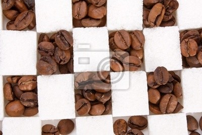 Fototapeta ziaren kawy i cukru