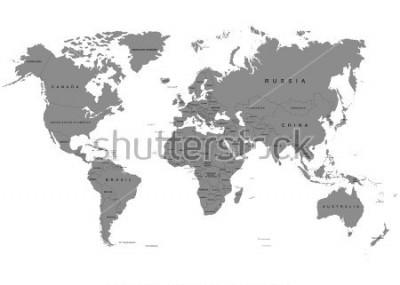 Fototapeta Ziemia, mapa świata na białym tle. Antarktyda. Ilustracji wektorowych
