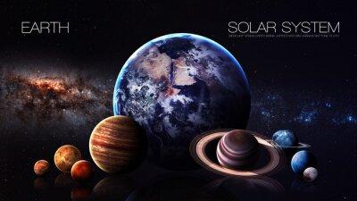 Fototapeta Ziemia - rozdzielczości 5K Infografika przedstawia jeden z planety systemu słonecznego. Ten obraz elementy dostarczone przez NASA
