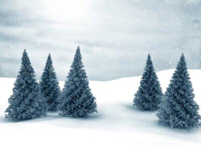 Fototapeta Zimowe sceny choinki