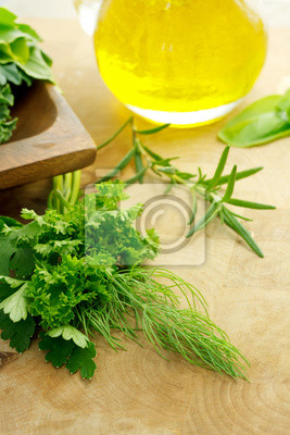Fototapeta Zioła i oliwy z oliwek