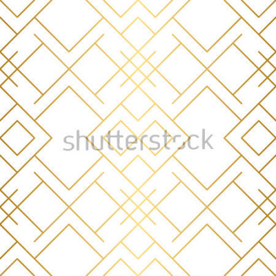 Fototapeta Złota tekstura. Geometryczny wzór. Złote tło. Wektorowy bezszwowy wzór. Geometryczne tło z romb i węzłów. Abstrakcyjny wzór geometryczny.