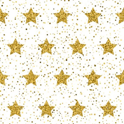 Fototapeta Złoty brokat blask tekstury na białym. Gwiazdy rozrywki.