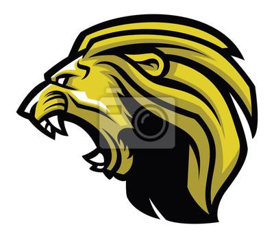 Fototapeta Zły głowa lwa maskotkę
