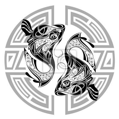 Fototapeta Znaki Zodiaku Ryby