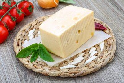 Fototapeta Żółty ser z cegły