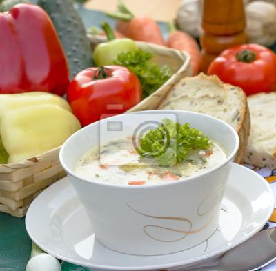 Fototapeta Zupa jarzynowa - minestrone