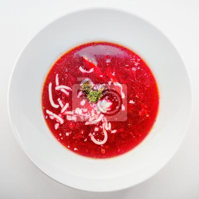 Fototapeta zupa z buraków