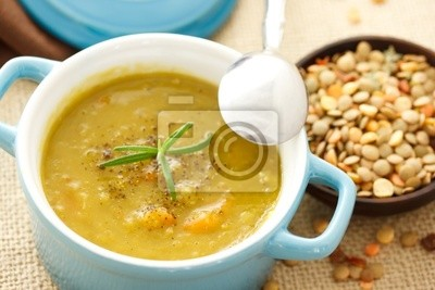 Fototapeta zupa z soczewicy