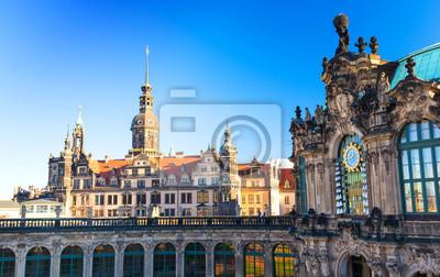Zwinger Architektura Barokowa W Drezno Saksonia Niemcy