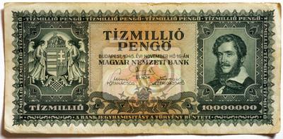 10 milionów Pengo (z przodu)