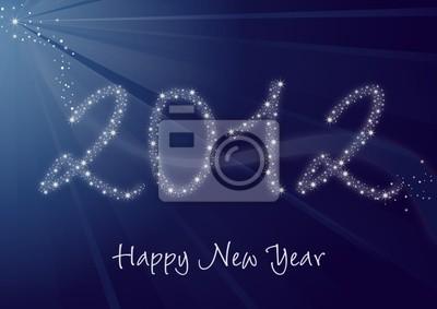 2012 - Happy New Year, grettings karta
