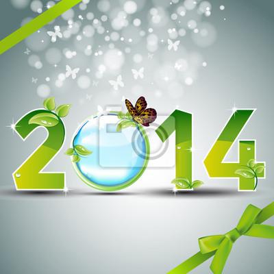 Naklejka 2014 ekologia