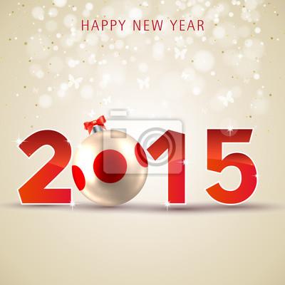 Naklejka 2015, Szczęśliwego Nowego Roku