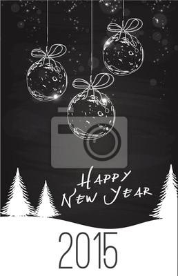 Naklejka 2015 Szczęśliwego nowego roku