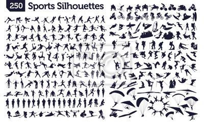 Naklejka 250 sportowe sylwetki