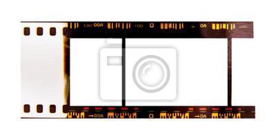 Naklejka (35 mm.) film frame.With white space.film camera.