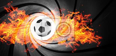 3d strzelać abstrakcyjny Piłka nożna ogień płonący rura