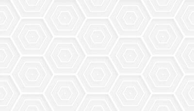 3d style hexagonal white pattern background design