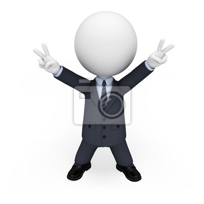 Naklejka 3D White ludzi jak człowiek biznesu