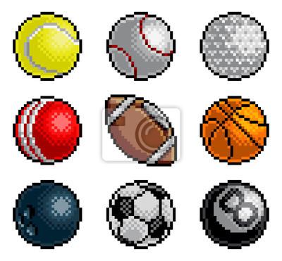 Naklejka 8-bitowa pikselowa gra zręcznościowa w stylu sztuki z kreskówek