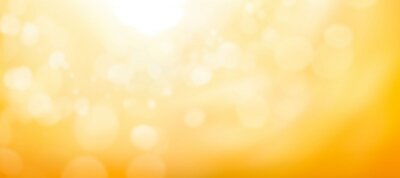 Naklejka A blurred golden warm yellow and orange abstract sunny summer sky background Illustration.