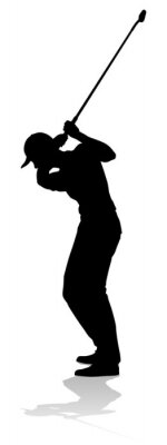 A golfer sports person playing golf