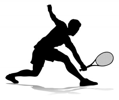 A tennis player man male sports person in silhouette