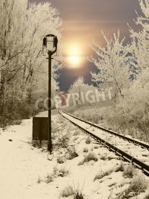 Naklejka Abandoned rail