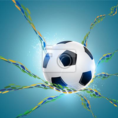 absract tle piłki nożnej
